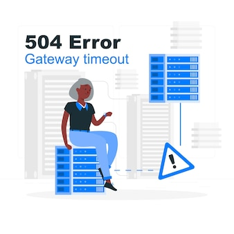 504 error gateway timeout concept illustration