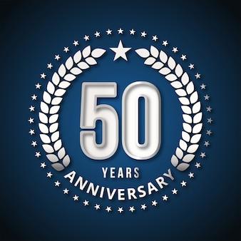 50年のお祝いのデザインベクトル