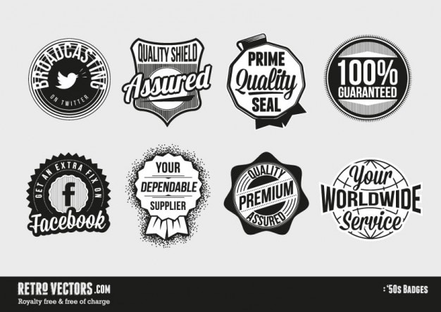 50s themed badges