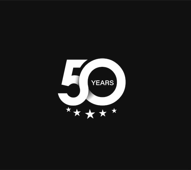 50th years anniversary celebration design.