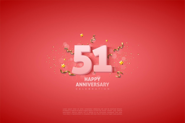 51-я годовщина с иллюстрацией простых чисел