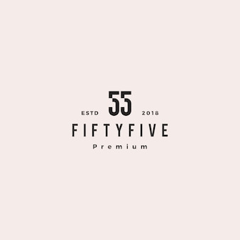 55 fifty five number logo vector icon sign
