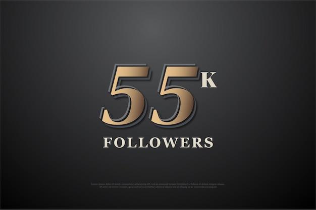 55k подписчиков с плоским номером