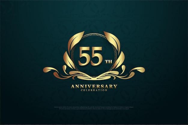 55-летие фон с очаровательными символами