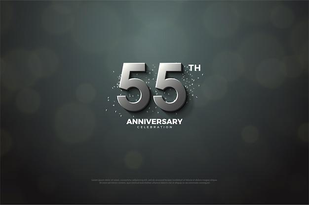 55-летие с серебряными цифрами