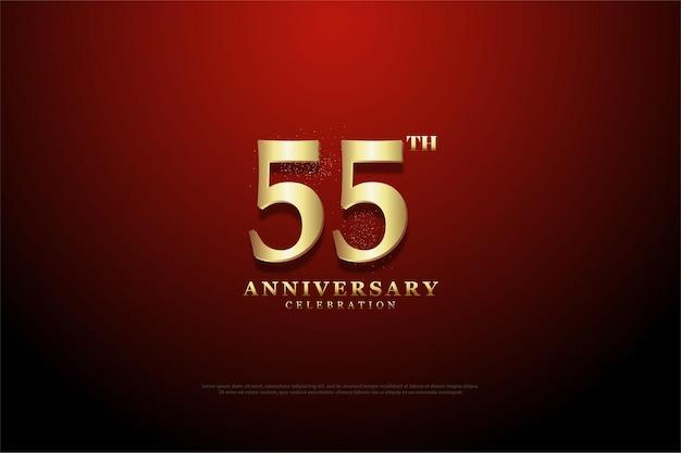 55-я годовщина с набросанным фоном