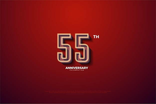55-летие с номерами с мягкой белой каймой
