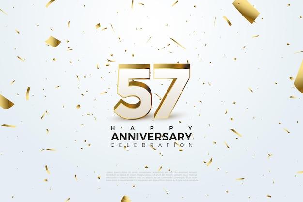 57-я годовщина с номером иллюстрации