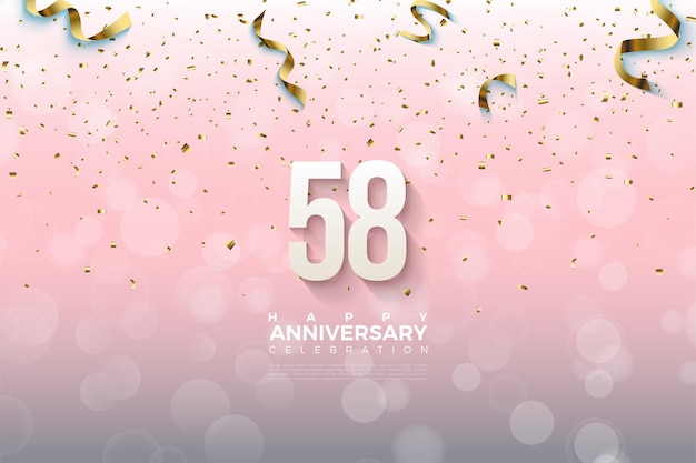 58주년 기념 골드 리본 드롭