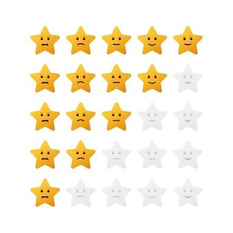 5つ星の評価アイコンセット