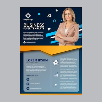 Флаер шаблон бизнес а5