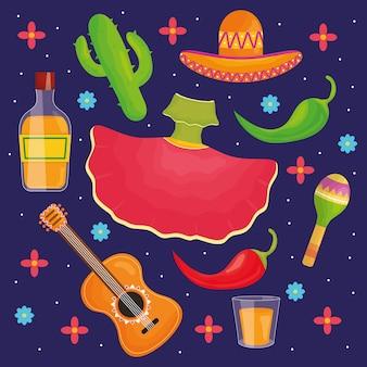5 мая набор иконок для празднования