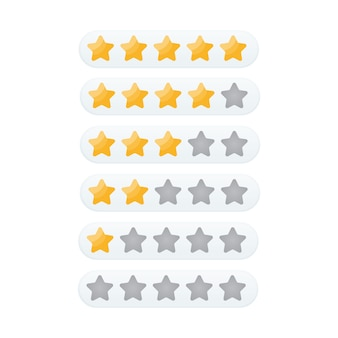 5つ星評価アイコンベクトル