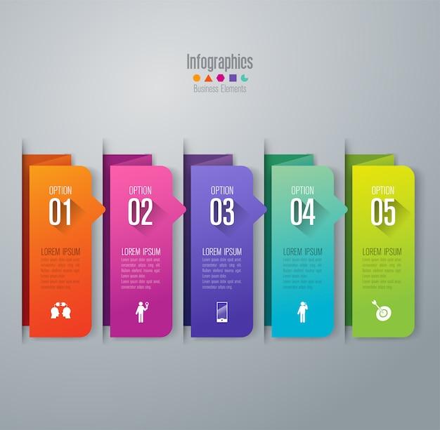 5 шагов бизнес инфографики элементы для презентации