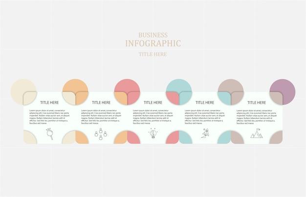 インフォグラフィック5つのステップ