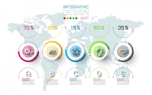 Бизнес инфографики с 5 шагов.