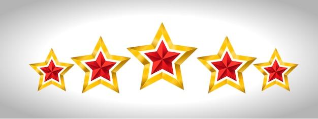 5つの金の星