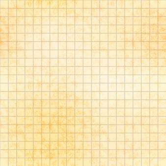 テクスチャ、シームレスなパターンを持つ古い紙の上の5ミリグリッド