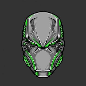 Солдатская маска 5 векторные иллюстрации