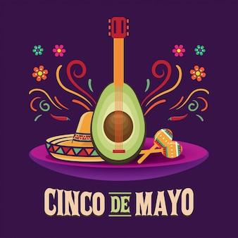 5 мая, синко де майо, векторная иллюстрация
