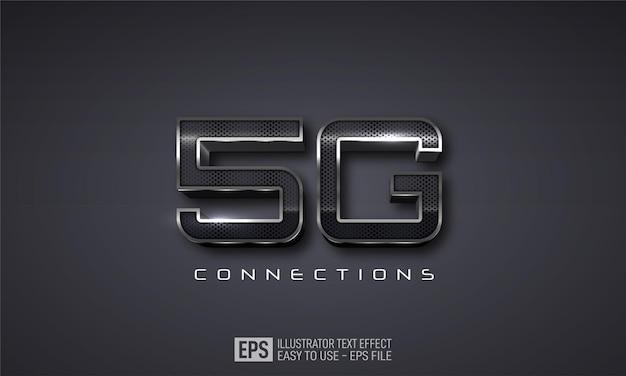 5g3dテキスト編集可能なスタイルエフェクトテンプレート