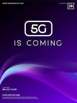 Абстрактный 5g фон, 5g сетевые технологии
