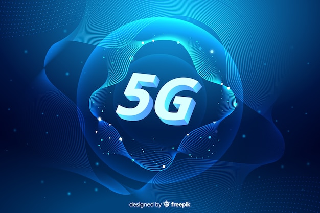 5g cellular network concept background