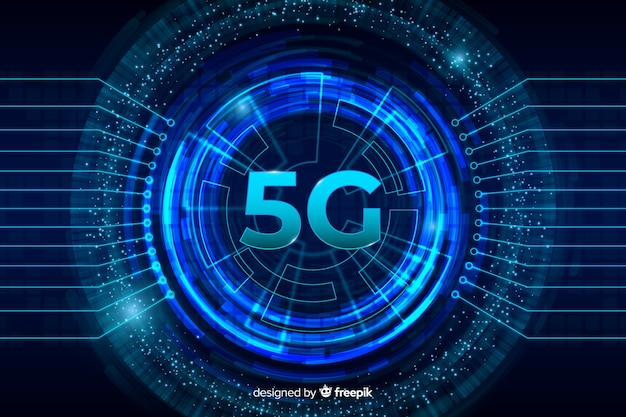 5g centered concept background