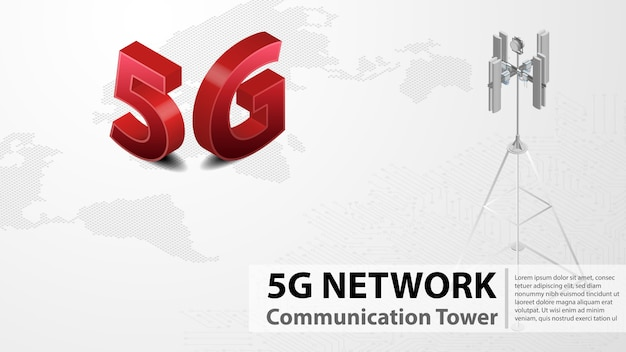 5g communication tower wireless hispeed internet with data center
