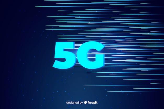 5gコンセプトの背景とスピードの光線