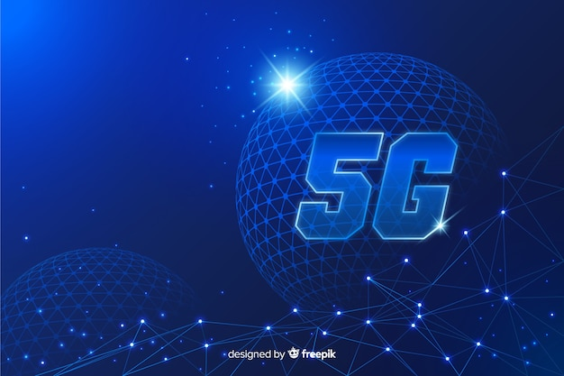 5g concept background in flat design