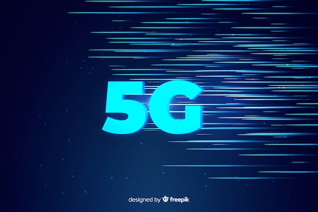 5g concept background and speed light lines