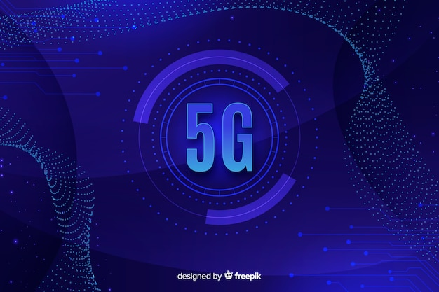 5g concept background with circuit board lines