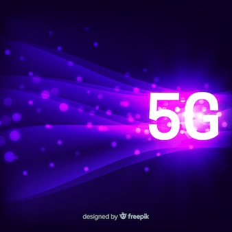 5g concept background with lines and dots