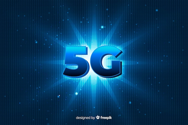 5g concept background with shining star