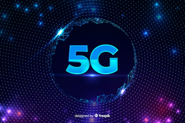 5g concept background with wired net