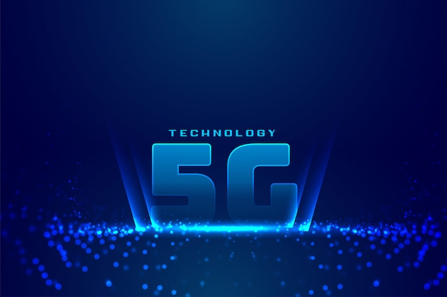 5g fifth generatitechnology digital background