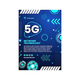 5g flyer vertical design template