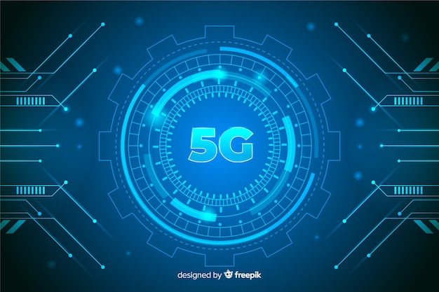 5g futuristic concept background