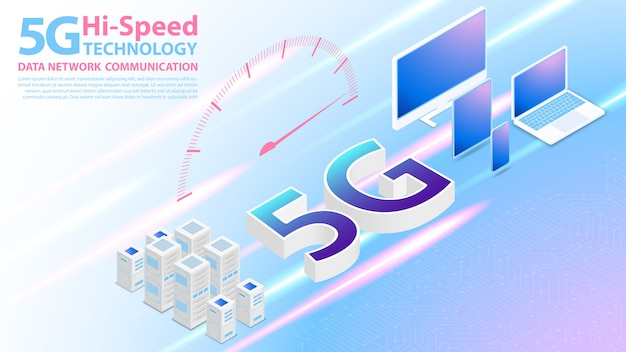 5g hi-speed technology data network communication wireless internet