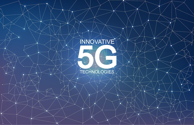 5g innovative technologies abstract composition