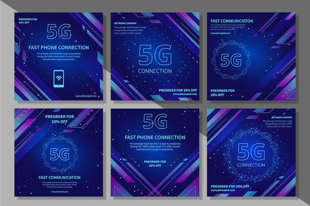 Raccolta di post instagram 5g