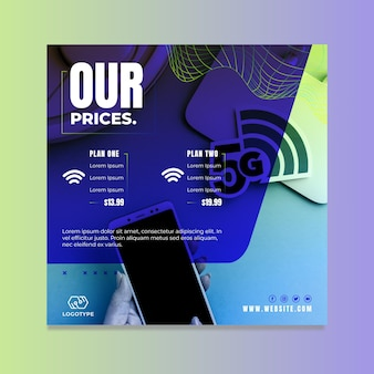 5g instagram square flyer template