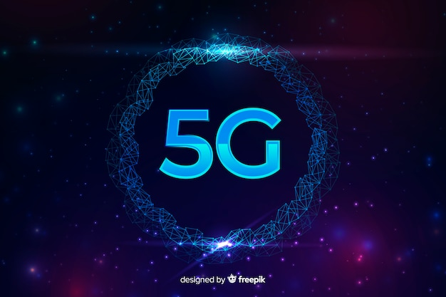 5g internet connection concept background