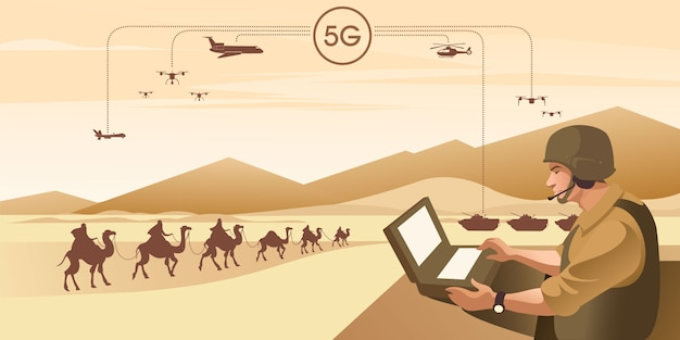 5gは、軍事intelligence報通信インフラストラクチャとしての第5世代のワイヤレステクノロジーデジタルセルラーです。