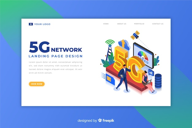 5g isometric landing page