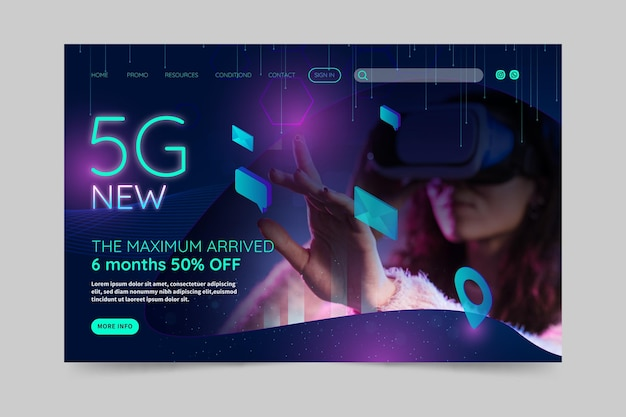 5g landing page concept