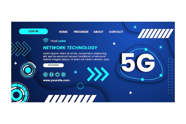 5g landing page design template