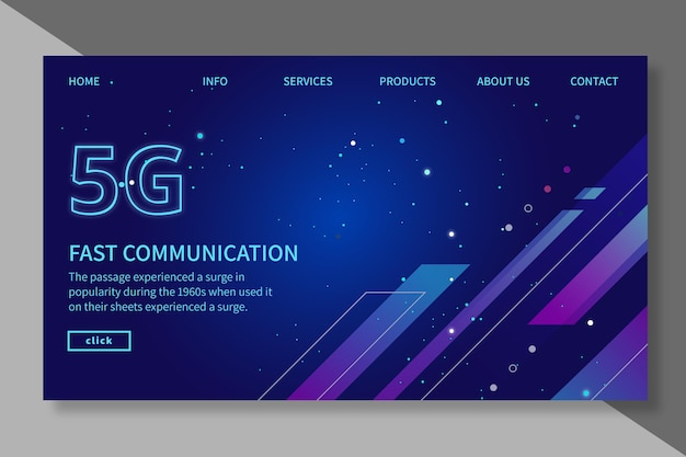 5g landing page template