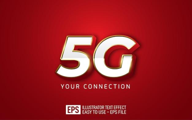 5g логотип значок 3d текстовый редактируемый стиль эффект шаблона